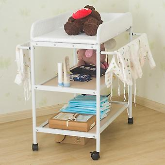 Portable  Movable Baby Diapering Nursing Table With Seat Belt (84 X 72 X90cm)