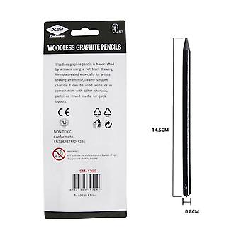 Professional Pure Carbon Sketch Pens, 2b/4b/hb Woodless Pencil For Sketching