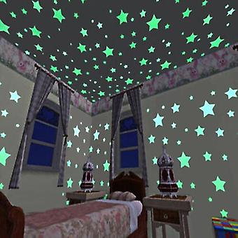 Glow In The Dark Luminous Star Stickers, Bedroom Fluorescent Painting Pvc