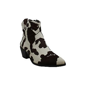 INC International Concepts Women's Shoes Latisha2 Calf Hair Pointed Toe Ankle Fashion Boots