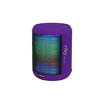 NBY SmallSound activate LED Light BluetoothSpeaker Music&Dancing Fountain,Purple