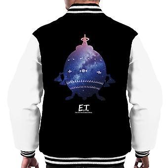 E.T. nave espacial Galactic Silhouette Men's Chaqueta Varsity