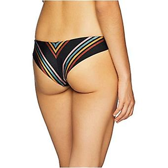 RVCA Junior's Side LINE Cheeky Bikini Bottom, Black, S