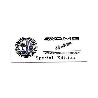 Silver Chrome Mercedes AMG Affalterbach-Germany Special Edition Badge Emblem 80mm x 30mm