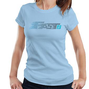 Nopea ja raivoisa Nopea 8 Sininen Naiset&Apos;T-paita