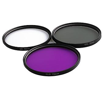 3 In 1 Lens Filter-set With Bag Uv+cpl+fld