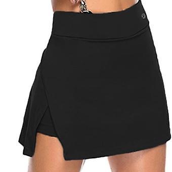 Solid Tennis Rokken Vrouwen Golf Badminton Sports Fitness Shorts High Waist