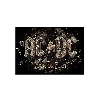 AC/DC affisch Rock eller byst nya officiella textil flagga 70 x 106 cm