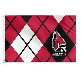 Ball State University Argyle Pattern Flag