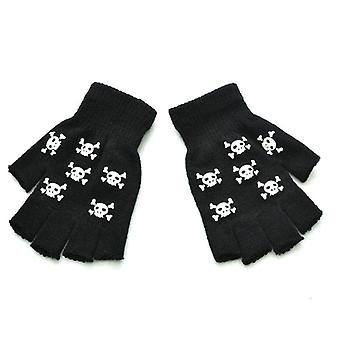 Halloween Style Gloves Horror Skull Claw Bone Skeleton Half Gloves, Winter Hand