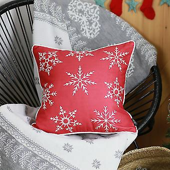 Christmas Snowflakes Square Throw Pillow Cover