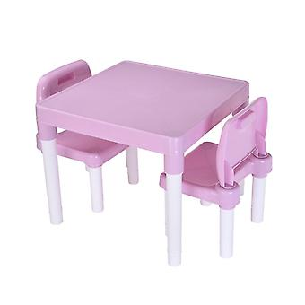 Children's Learning Tables And 2 Chairs Set