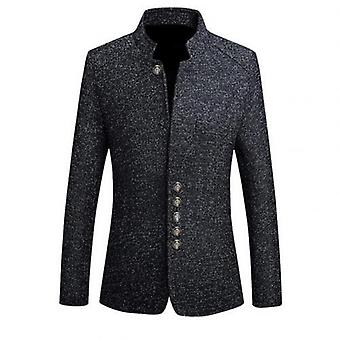 Men's Vintage Blazer Coats Chinese Style Business Dress