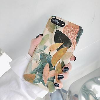 Hard Pattern Retro Leaves Phone Back Case For Huawei