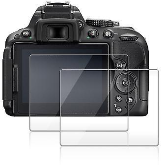Protezione dello schermo della fotocamera per nikon d5600 d5300 d5500, afunta 2 pack vetro temperato antigraffio