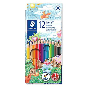 Staedtler pack of 12 noris club colouring pencils, assorted standard packaging