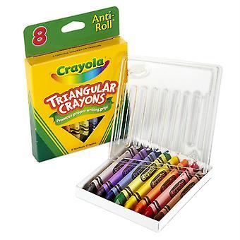 Crayola Dreiecke Anti-Roll Crayons, 8 Farben