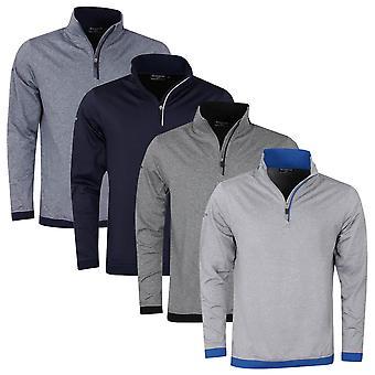 Glenmuir Mens 2021 Crail Thermal Water Repellent 1/4 Zip Golf Midlayer Sweater