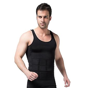 Men's Slimming Body Shapewear Corset, Vest Shirt Compression Abdomen Belly