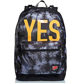 La mochila doble - Tye y Dye Boy -Reversible -Gris