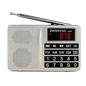 Retekess Digital Display FM AM SW Radio AUX MP3 Audio Player Speaker for Mobile Phone Gift for famil