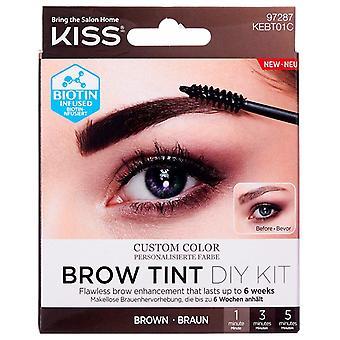 Kiss Custom Color Brow Tint DIY Kit - Brown - Personalise Your Brow Shade
