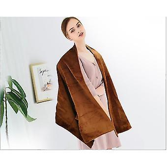 Coral Fleece Polyester Geweven Stof Casual Simple Carbon Fiber Verwarming Usb Voeding Veilige wasbare sjaal