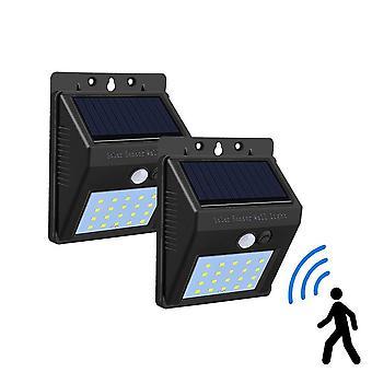 Solar Led Porch Lights Pir Motion Sensor (bianco caldo)
