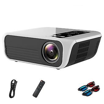 Portable Projector T8 4k Video Support 3d Home Theater 4500 Lumens Android 7