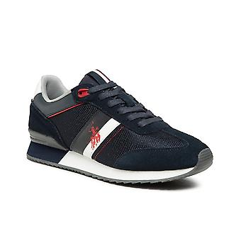 Shoes U.S. Polo Sneaker Running Austen 2 Suede/ Mesh Blue Navy Men's Us21up20