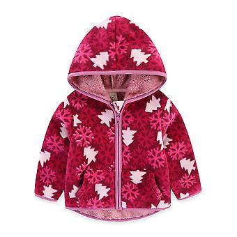 Autumn/winter Plush Jacket Warm Dinosaur Print Fleece Coat
