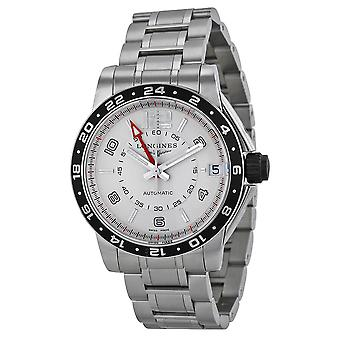 Longines Admiral GMT Silver Dial Stainless Steel Men's Watch L36684766