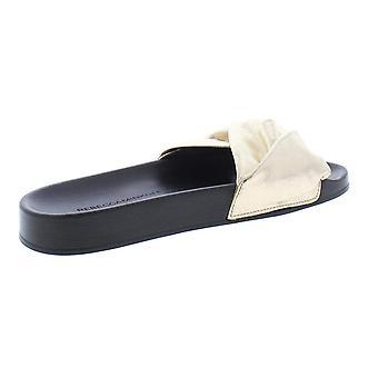 Rebecca Minkoff Womens Samara Leather Open Toe Beach Slide Sandals
