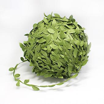 Leaf-Shaped Handmake Artificial green Leaves For Wedding Decoration DIY Wreath Gift Scrapbooking Craft Fake Flower 20/40 Meter