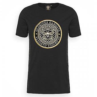 Glorious Gangsta Donaeo Black Crew Neck Logo T-shirt