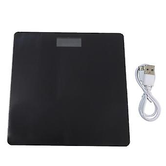 Usb Charging Lcd Displej Digitálna kúpeľňová stupnica telesnej hmotnosti