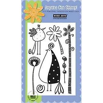Hero Arts Clear Design: Birds And Branches Clear Stamp