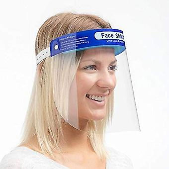 Transparent Safety Face Shield Full Protection Cap Wide Visor, Adjustable, Easy to Clean, *Protective Film MUST Be Peeled Off*