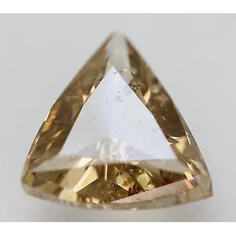 Cert 2.21 Karat ruskea keltainen VS2 kolmio parannettu luonnollinen timantti 11.27x10.03mm