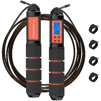 Gerui Jump Rope, Speed Skipping Rope with Calorie Counter, Adjustable Digital Counting Jump Rope with Ball