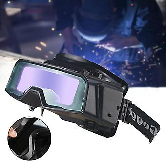 Welding Goggle Glasses Auto Darkening Adjustable Strap For Eye Protection