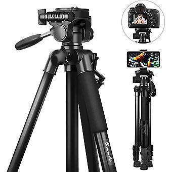 FengChun Stativ Kamera, 148cm Leichtes Aluminium-Kamerastativ fr DSLR Canon/Nikon/Sony, Handlich