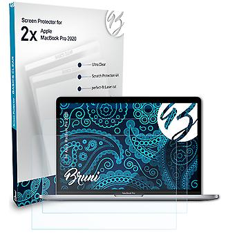 Bruni 2x Screen Protector compatible with Apple MacBook Pro 2020 Protective Film