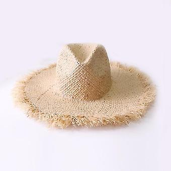 Летние шляпы Raffia Sun, пляжные летние шапки