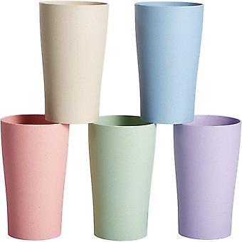 HanFei Tasse Becher Unzerbrechliche Tessen Bunte Teetasse Trinkbecher für Wasser Kaffee Milch Saft
