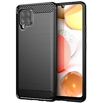 Tpu carbon fibre case for samsung a41 black mfkj-634