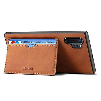 Lommebok skinnveske kortspor for iphone7 / 8 brun no4597