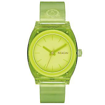 Nixon Mujer Cajero de medio tiempo P Green Dial Watch - A1215-536