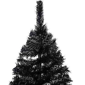 vidaXL Albero di Natale artificiale con stand Nero 180 cm PVC