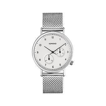 KOMONO Walther silver mesh - reloj unisex